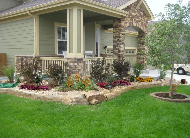 Landscaping Ideas For Front Yard Of Semi Detached : Stripstone wall
